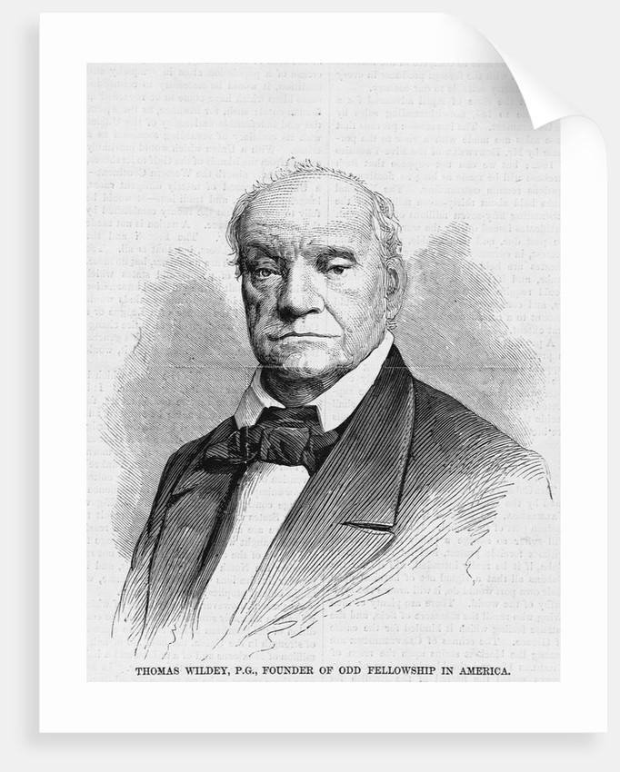 Thomas Wildey, P G , Founder of Odd Fellowship in America