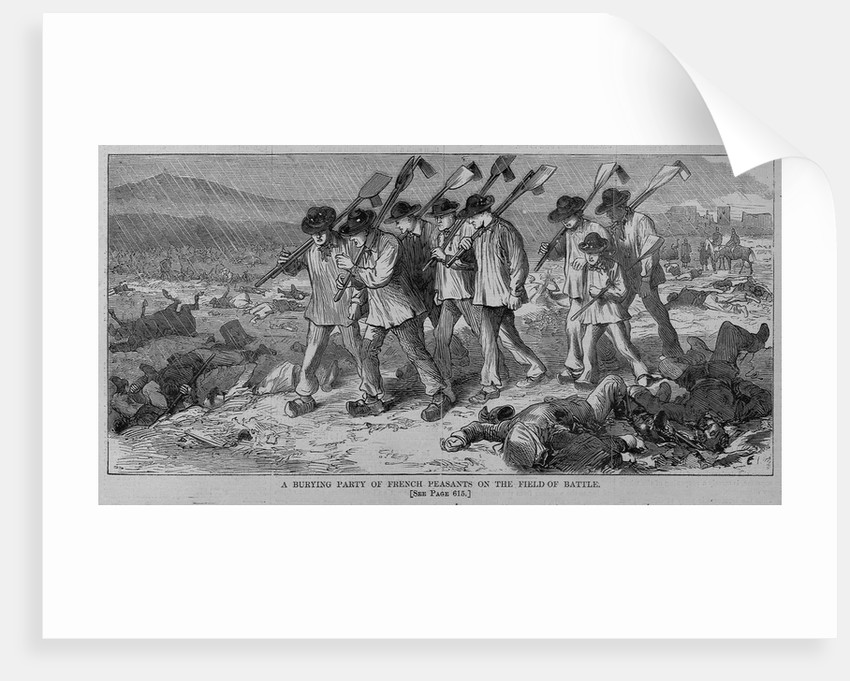 A burying party of French peasants on the field of battle by Corbis