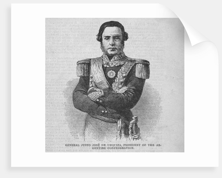 General Justo Jose De Urquiza; President of the Argentine Confederation by Corbis