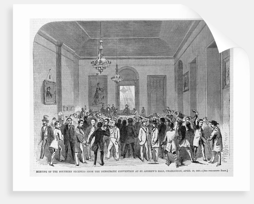 Meeting of the Southern Seceders from the Democratic Convention Magazine Illustration Published in Harper's Weekly by Corbis