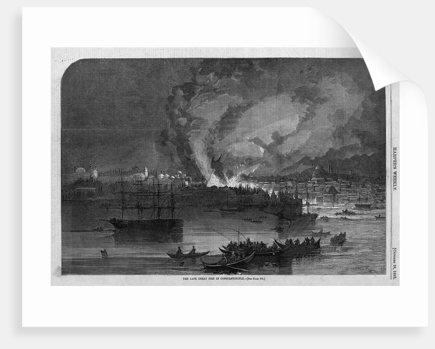 The Late Great Fire in Constantinople by Corbis