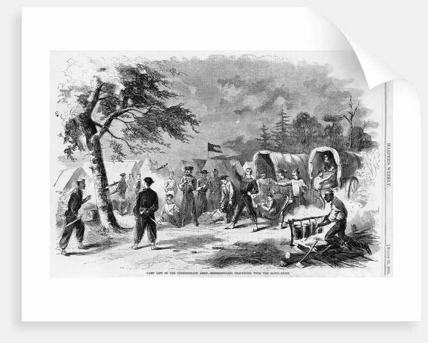 Camp Life in the Confederate Army - Mississippians Practicing with the Bowie Knife by Corbis