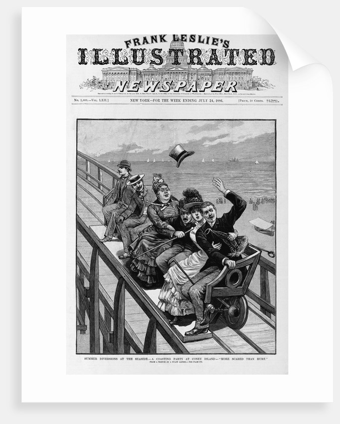 A Coasting Party at Coney Island Newspaper Illustration Published in Frank Leslie's Illustrated Newspaper by Corbis