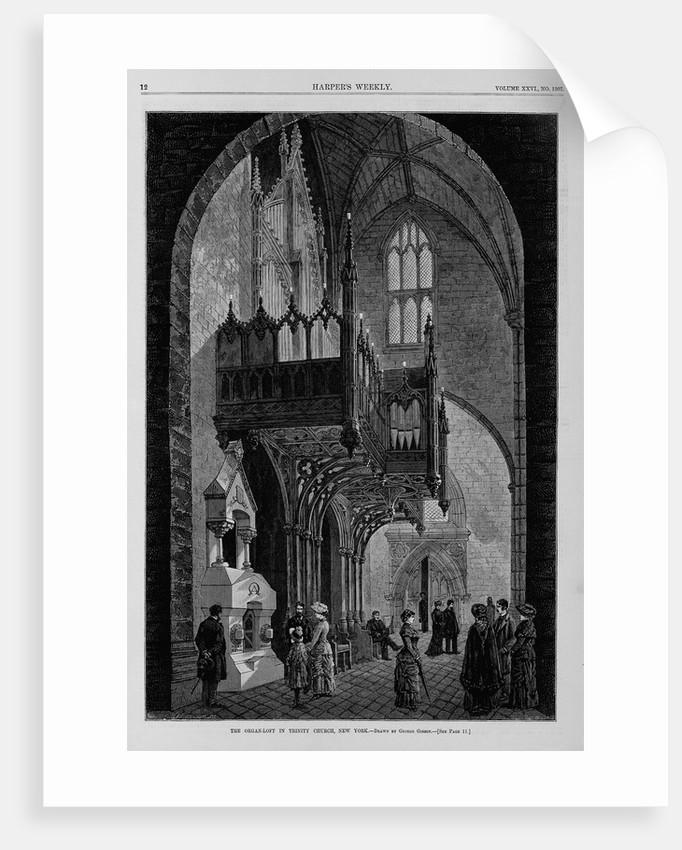 The organ-loft in Trinity Church, New York by George Gibson