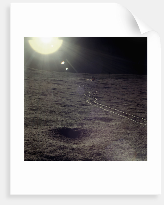 Wheel Tracks on the Surface of the Moon by Corbis