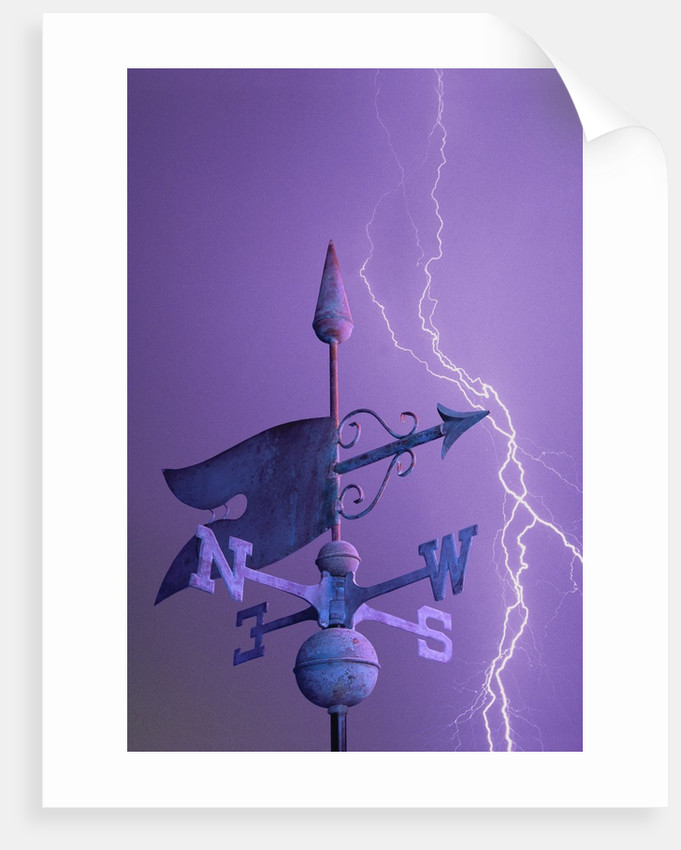 Weathervane and Lightning Bolt by Corbis