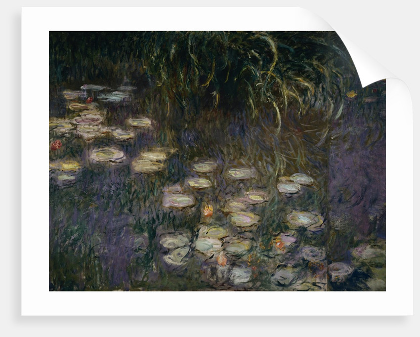 Detail of Waterlilies from The Morning by Claude Monet