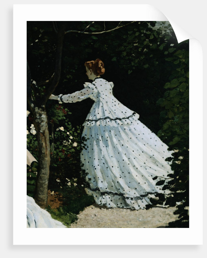 Detail of a Lady from Women in a Garden by Claude Monet
