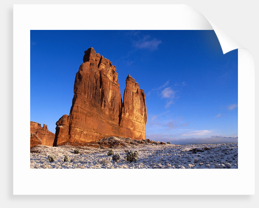 Courthouse Towers Rock Formation by Corbis