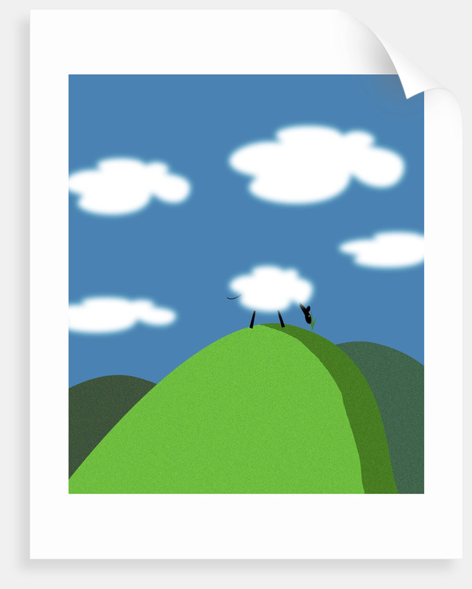 Sheep and Clouds by Corbis