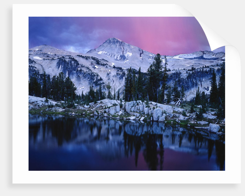 Mountain Lake in Rugged Wilderness by Corbis