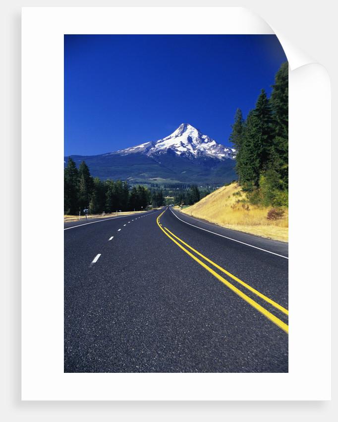 Highway Approaching Mt. Hood by Corbis