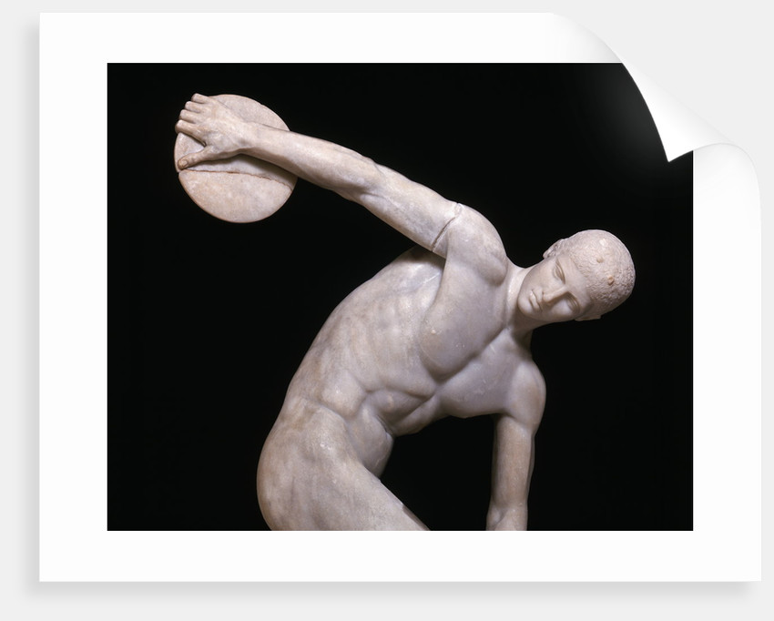 Detail of the Torso from an Ancient Roman Copy of Discobolus by Myron
