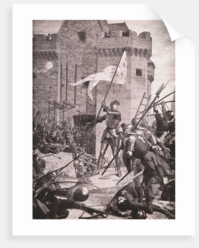 Joan of Arc During Siege by Corbis