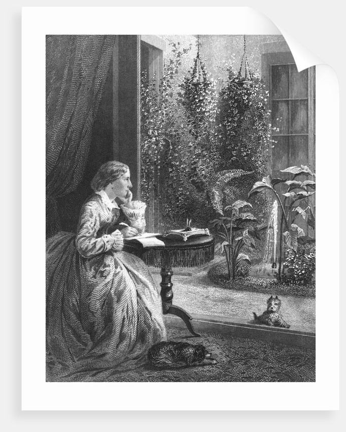 Harriet Beecher Stowe Writing at Home by Corbis
