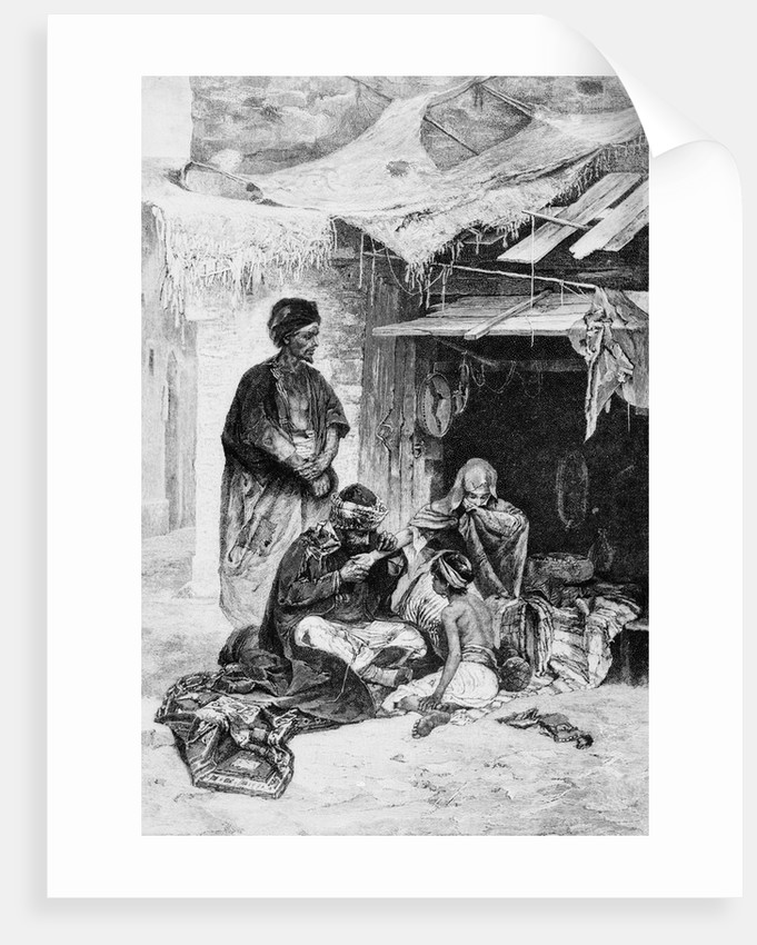 Arabian Doctor Curing Young Girl by Corbis