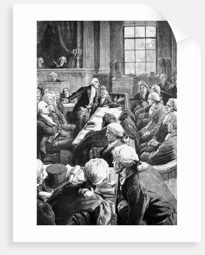 Courtroom Scene for Aaron Burr's Charge of Treason by Corbis