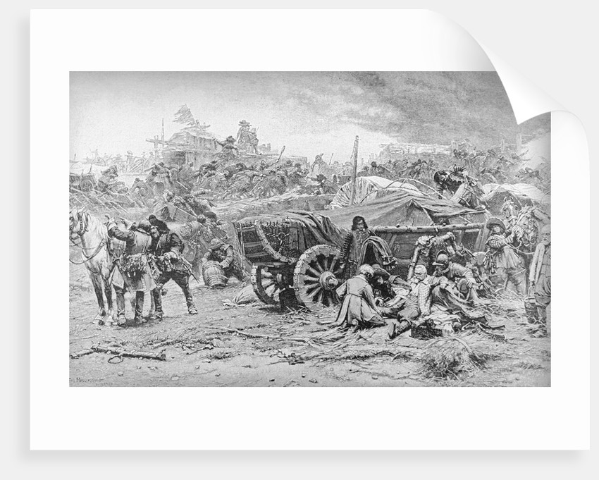Print of an Army Camp During the Thirty Years War by Corbis
