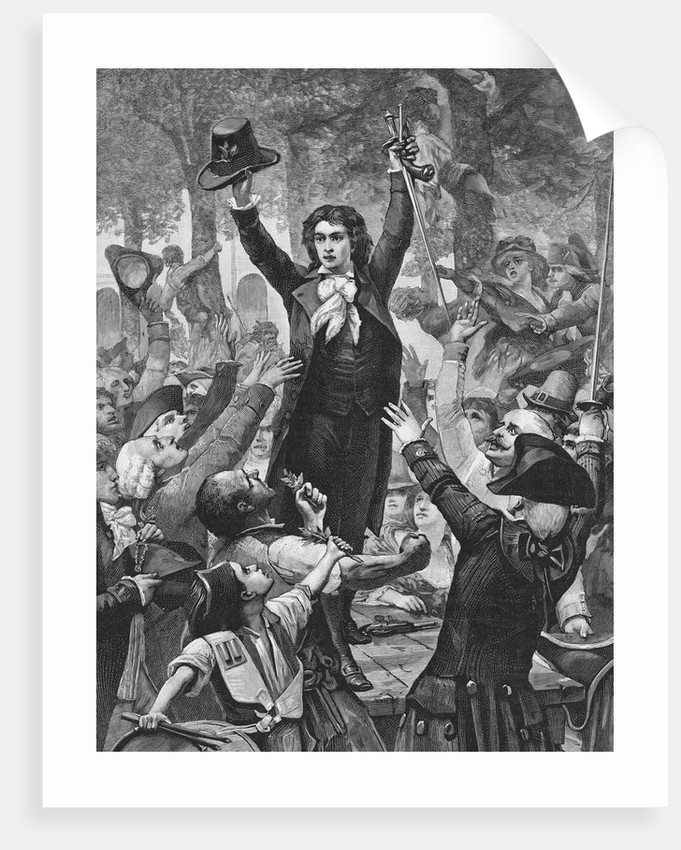 Illustration Depicting Camille Desmoulins by Corbis