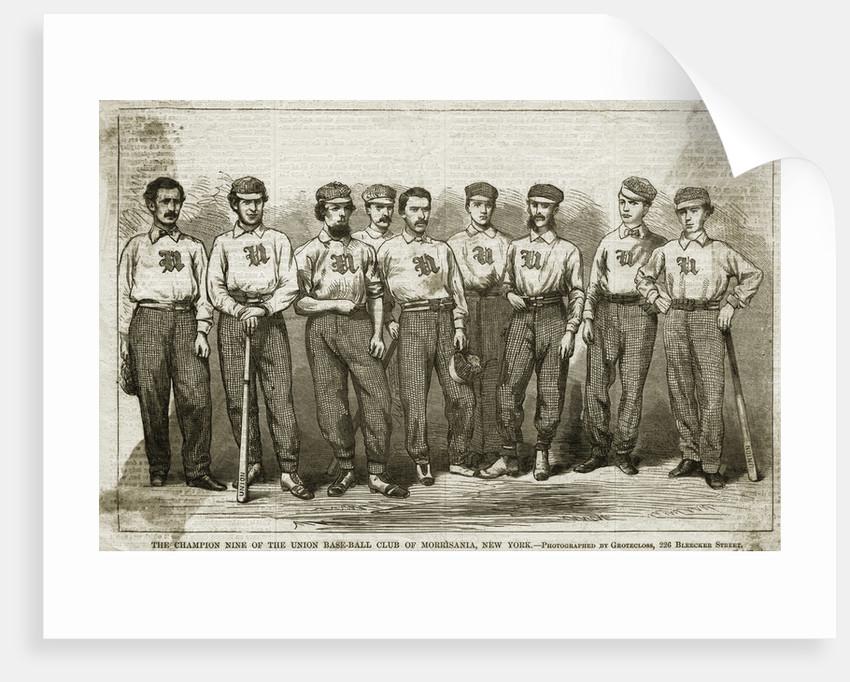 Illustration of Champion Baseball Team by Corbis