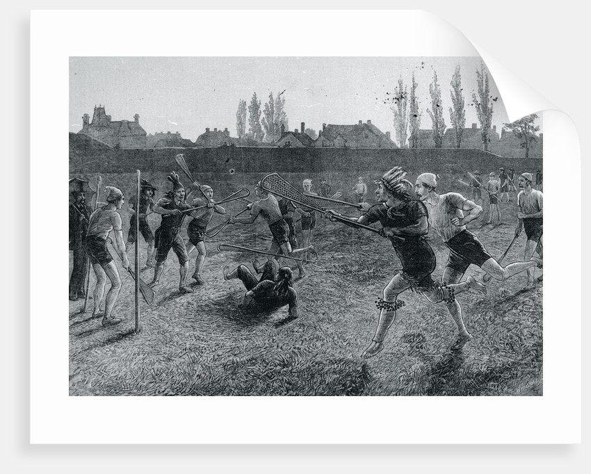 Teams Competing in Lacrosse by Corbis