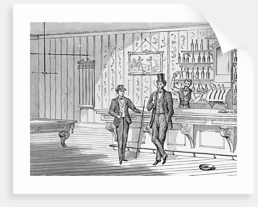 Illustration of Men in a Bar by Corbis