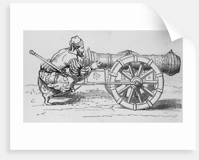 Canon with Soldier Taking Aim by Corbis