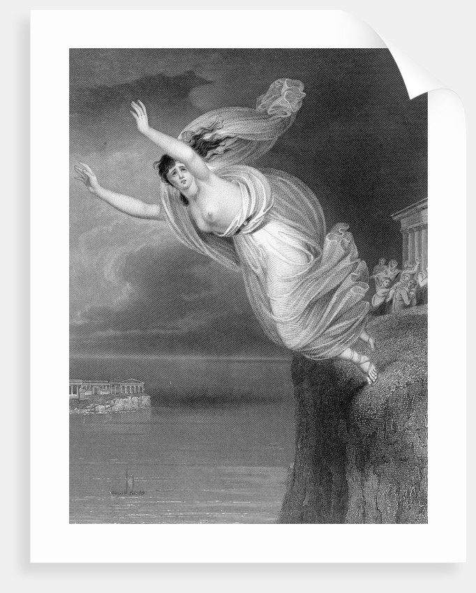 Illustration of Sappho Jumping to Her Death by Corbis