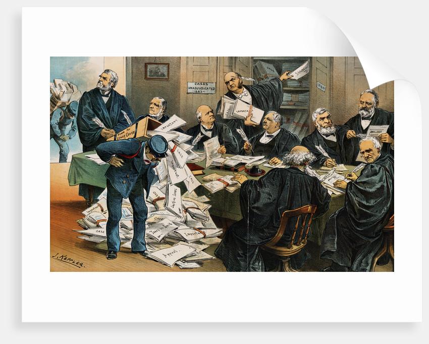 Political Cartoon Addressing Supreme Court by Corbis