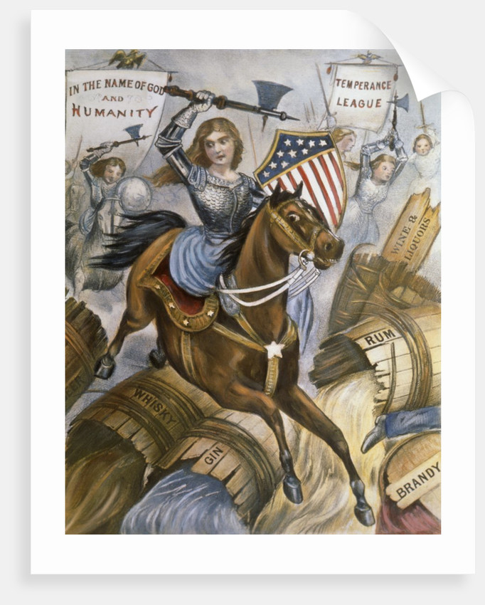 Woman's Holy War Lithograph by Currier & Ives