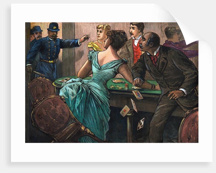 Police Raiding Female Gambling Den by Corbis
