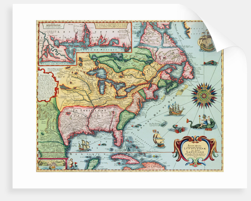 17th-Century Map of North America