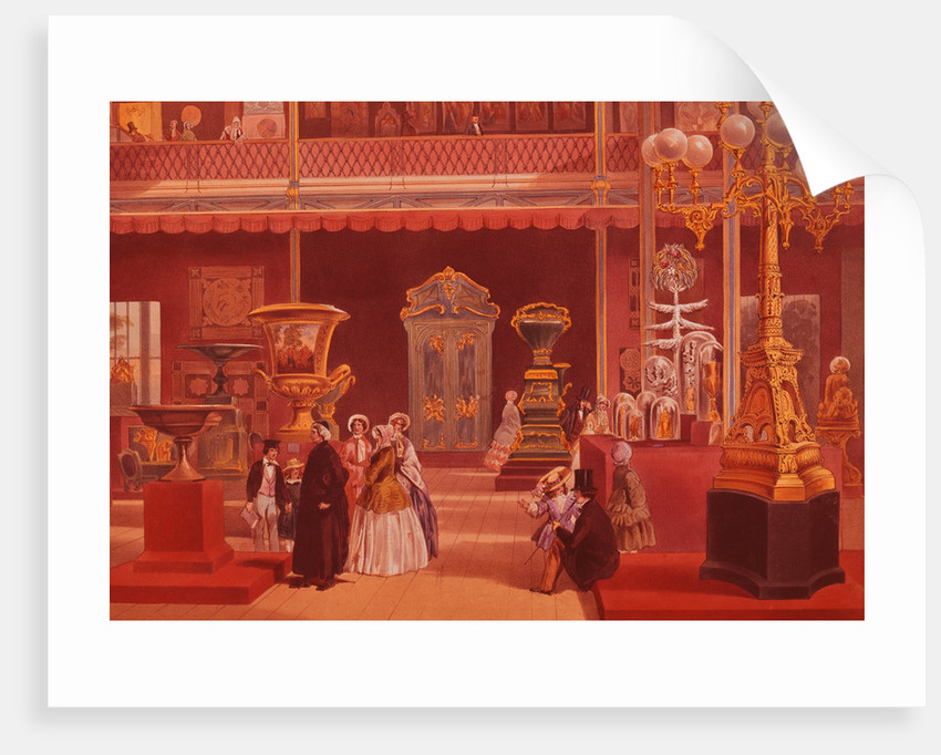 Color Print Depicting Products of India at the 1851 London Exposition by Corbis