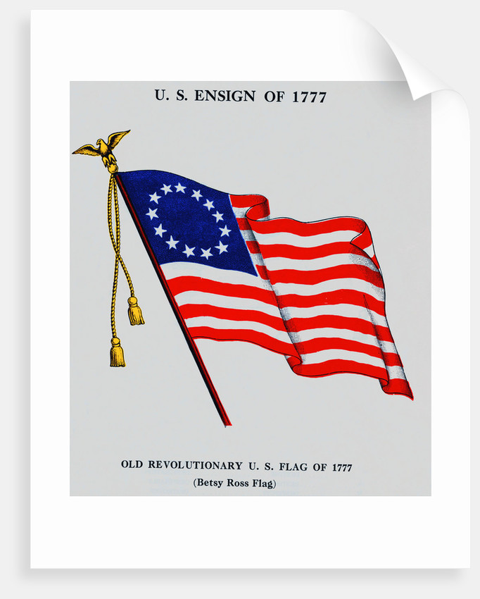 United States Old Revolutionary Flag by Corbis