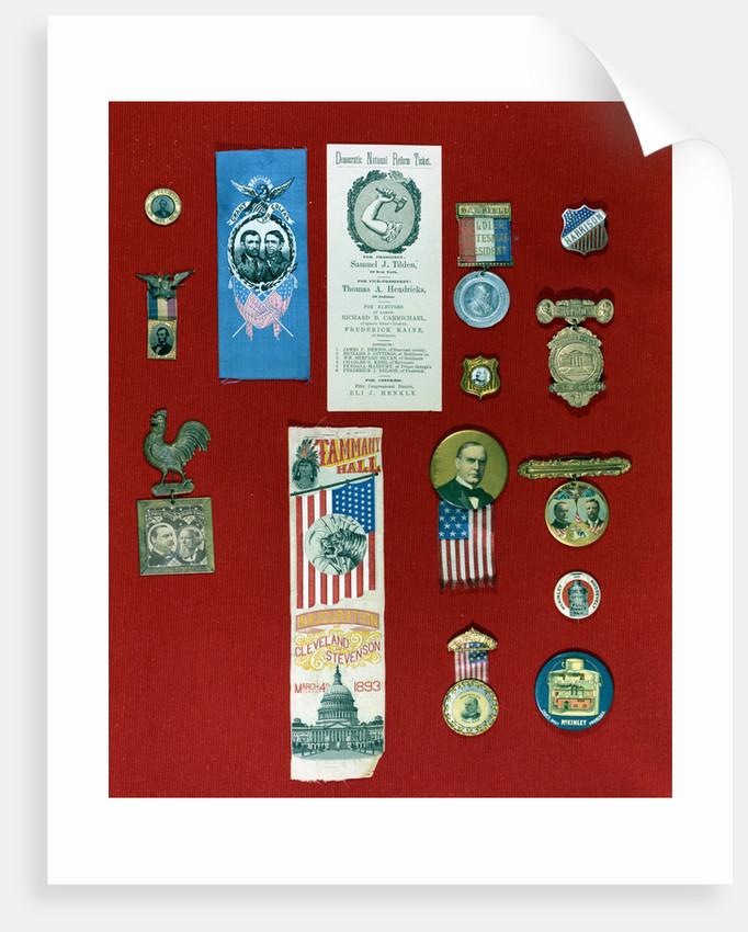 Display of Early Campaign Memorabilia by Corbis