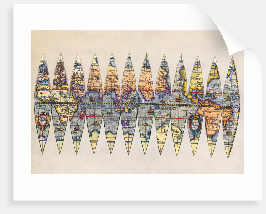 Early Map of the World by Corbis