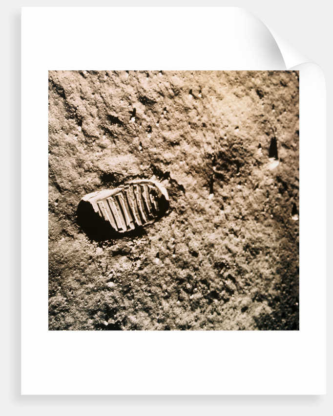 Astronaut's Footprint on the Moon by Corbis