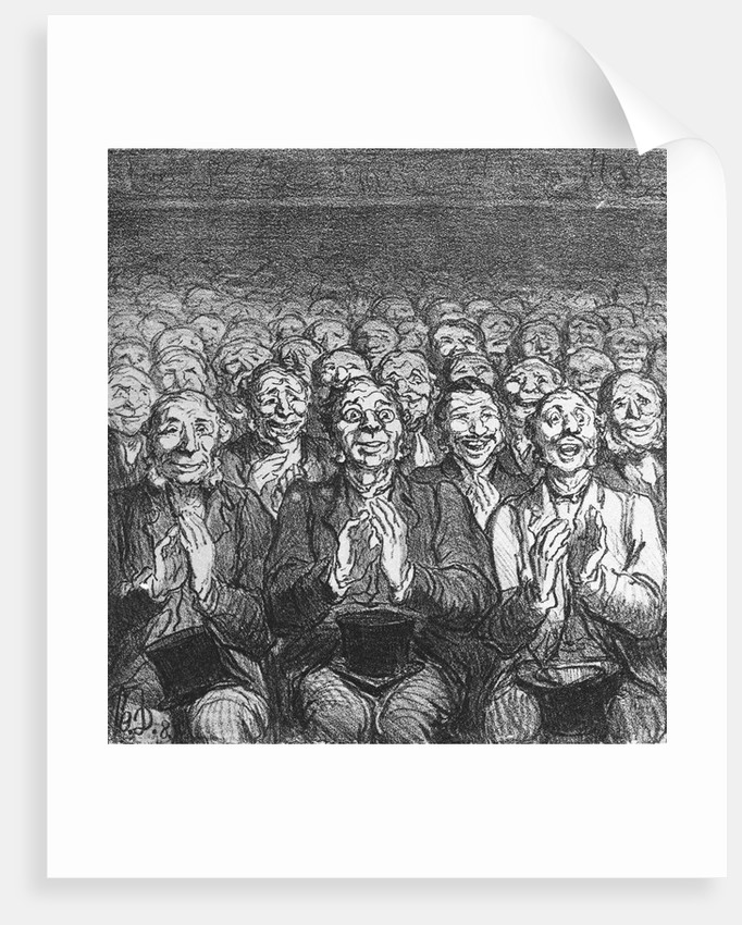 A Tremendous Success by Honore Victorin Daumier