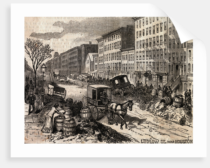 Carriage Passing Through Unsanitary Street Conditions by Corbis