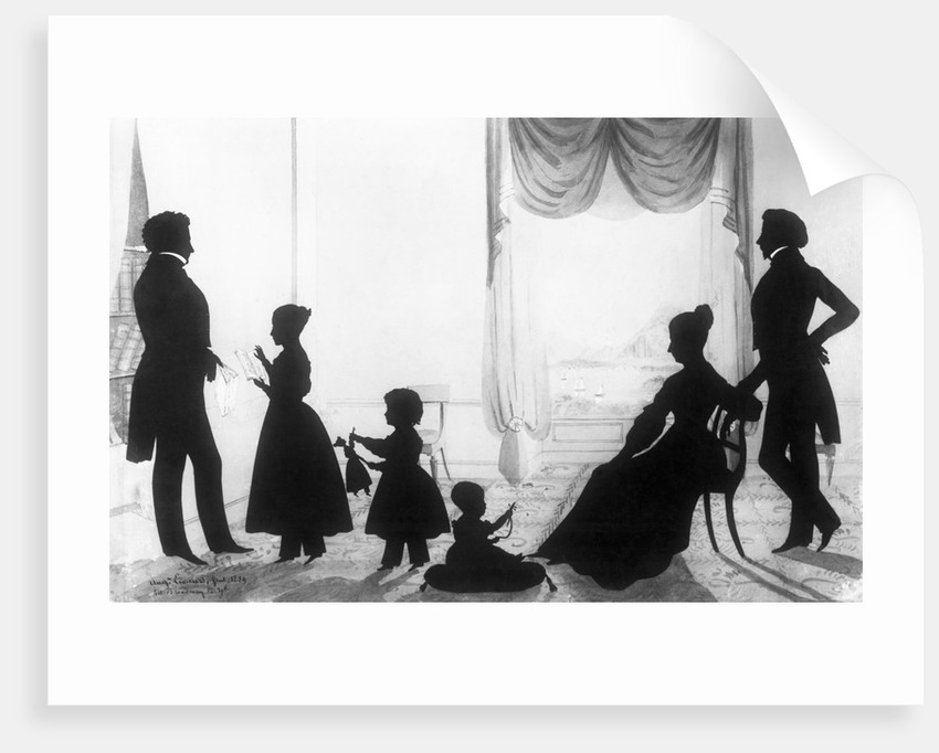 Fashionable Family in Silhouette by August Edward