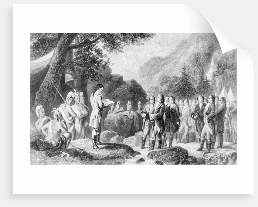 George Washington Reading Prayers by Corbis