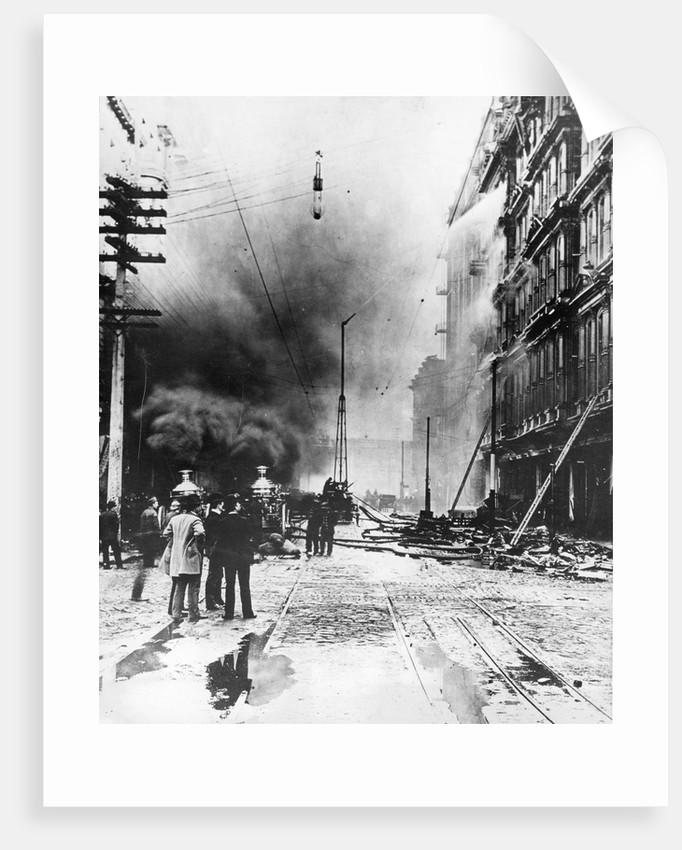 Baldwin Hotel Fire, 1898 by Corbis