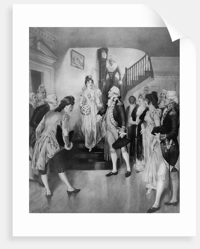 George Washington with Bride Martha Curtis by Corbis