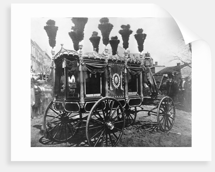 Hearse Carrying Abraham Lincoln's Body by Corbis