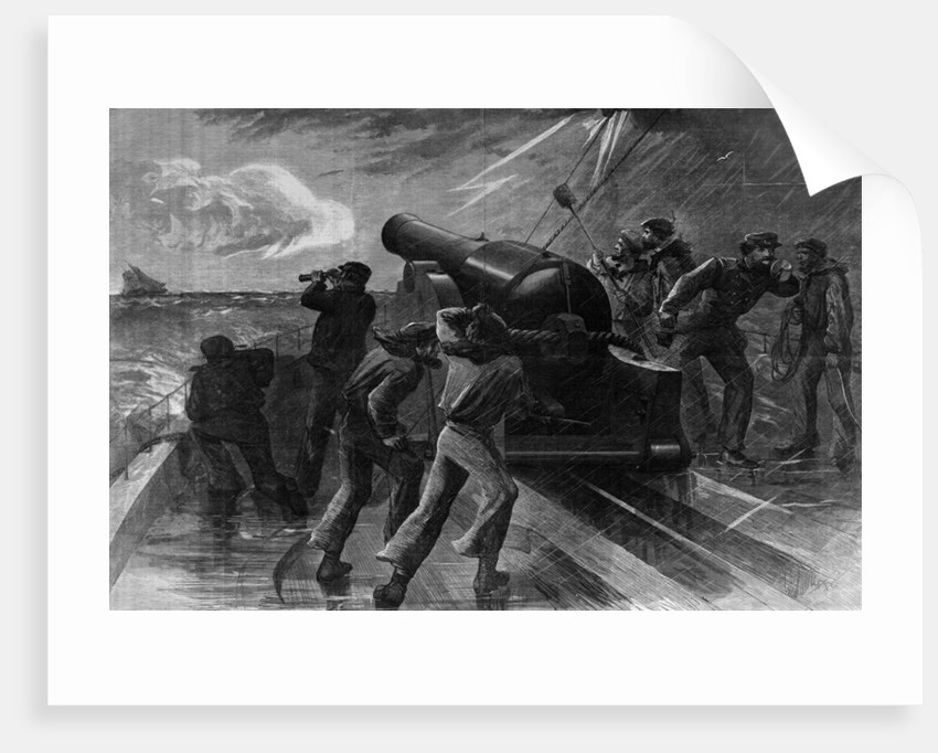 Union Navy Chasing Blockade Runner by Corbis