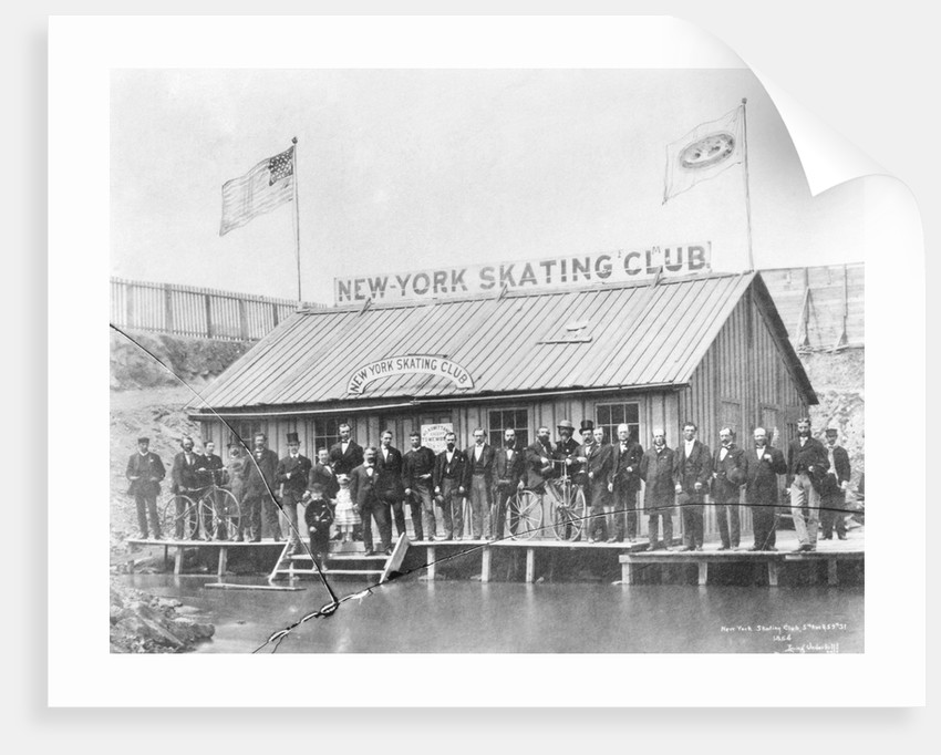 Skating Members in Front of Clubhouse by Corbis