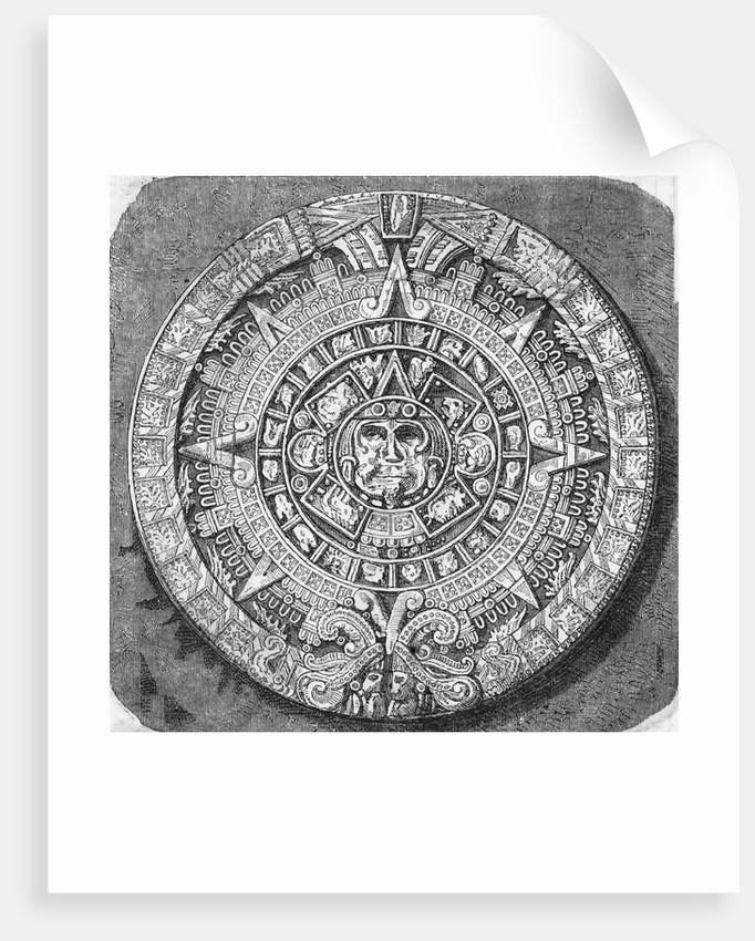 Aztec Calendar Stone.Great Aztec Calendar Stone