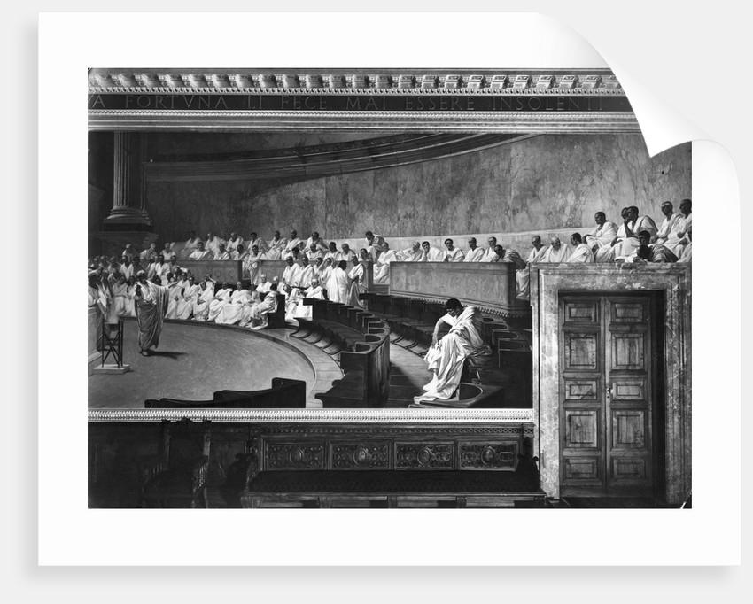Early Roman Senate Mural Painting by Maccari