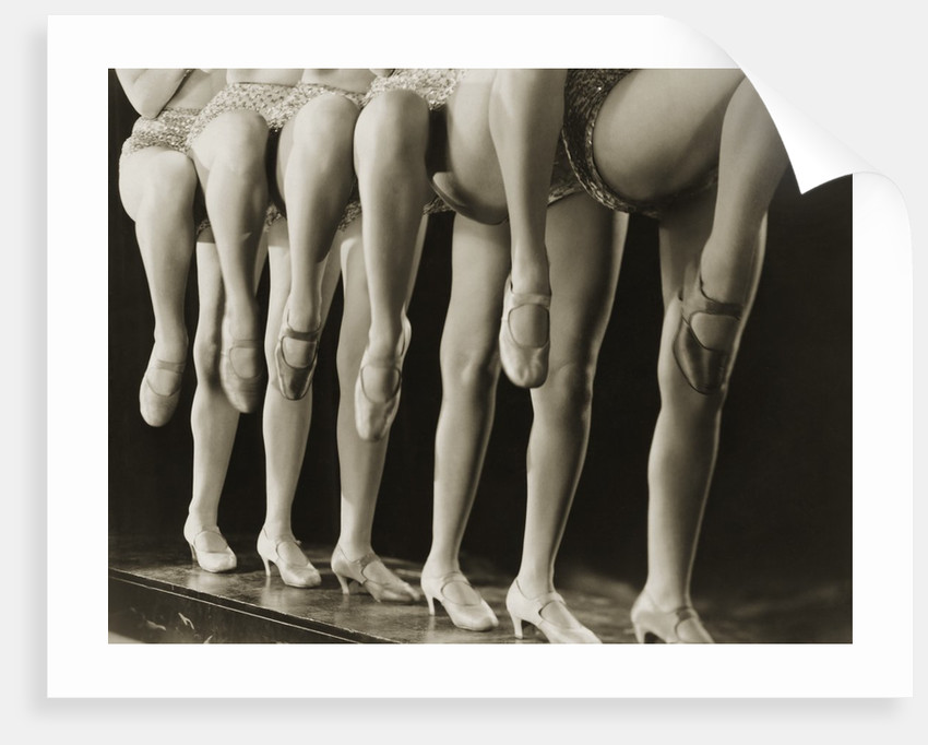 Chorus Girls Lining Up Showing Legs by Corbis