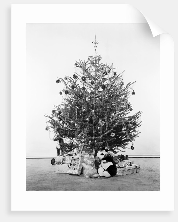 Christmas Tree with Presents and Toys by Corbis